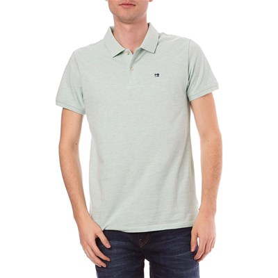 Scotch & Soda POLO MANICHE CORTE CELESTE