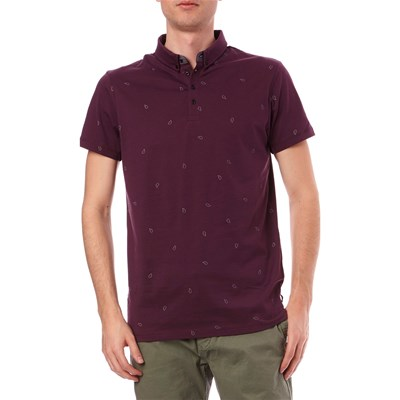 Scotch & Soda POLO MANICHE CORTE BORDEAUX