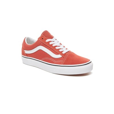Vans OLD SKOOL BASKETS EN CUIR ORANGE Chaussure France_v4373