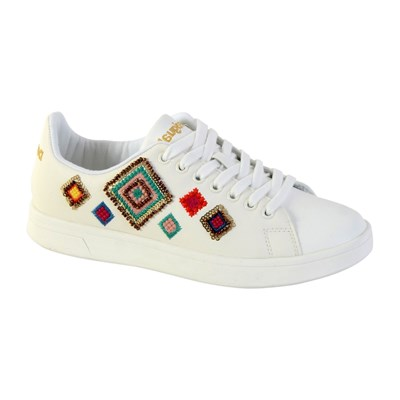 Desigual COSMIC EXOTIC BASKETS BASSES BLANC Chaussure France_v6574