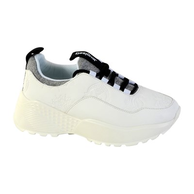 Chaussures Femme | Desigual CHUNKY BASKETS BASSES BLANC