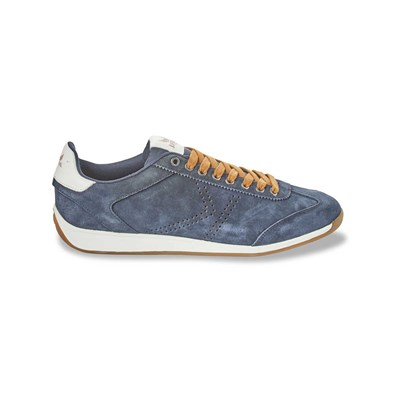 Kaporal Shoes KART BASKETS EN CUIR BLEU MARINE
