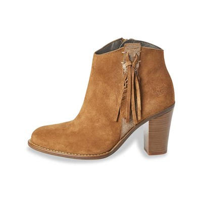 Kaporal Shoes TEXANE LEDERBOOTS KAMELFARBEN