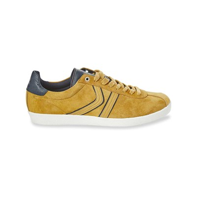 Kaporal Shoes KANIOR BASKETS EN CUIR JAUNE Chaussure France_v5720