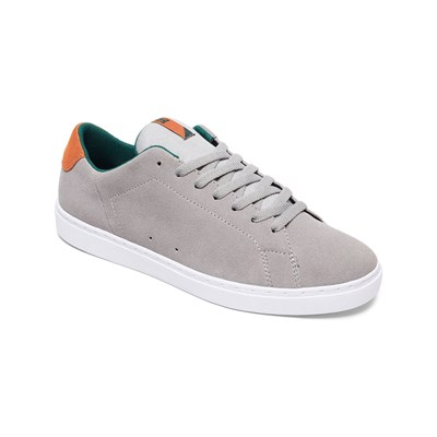DC Shoes BASKETS EN CUIR GRIS Chaussure France_v2889