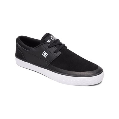 DC Shoes BASKETS EN CUIR NOIR Chaussure France_v2890