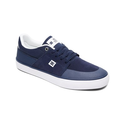 DC Shoes BASKETS EN CUIR BLEU Chaussure France_v2884