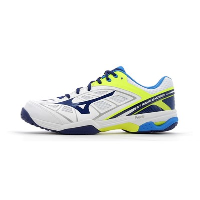 Mizuno WAVE EXCEED AC CHAUSSURES DE TENNIS BLANC Chaussure France_v7948