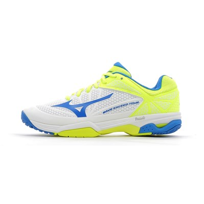 Mizuno WAVE EXCEED TOUR 2 AC CHAUSSURES DE TENNIS JAUNE Chaussure France_v10255