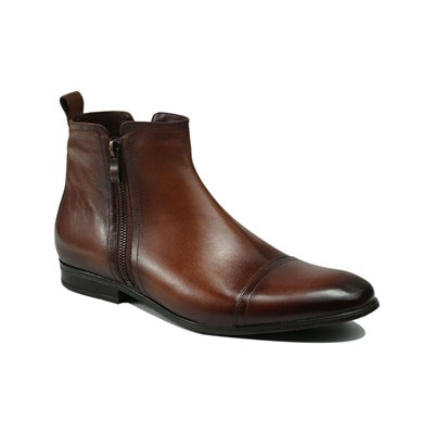 Roberto Renzo MINELLO BOTTINES EN CUIR MARRON