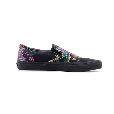 Vans CLASSIC SLIP-ON (FESTIVAL SATIN) BASKETS BASSES NOIR Chaussure France_v12047