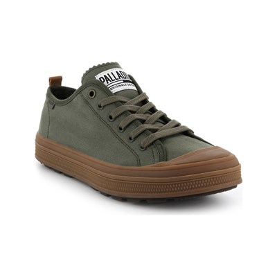 Palladium SUB LOW BASKETS BASSES OLIVE Chaussure France_v4673