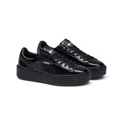 Cracked Puma 3125795 Cuir Noir Creeper En Baskets Caoutchouc 7q5Zq