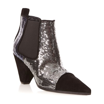 Sonia by Sonia Rykiel BOTTINES À SEQUINS GRIS FONCÉ