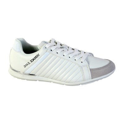 Versace TOMMY DIS.5 BASKETS BASSES BLANC Chaussure France_v11695