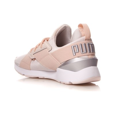 Basses Baskets Satin Muse Caoutchouc Puma Ii Rose 3006837 4gUIqwxw