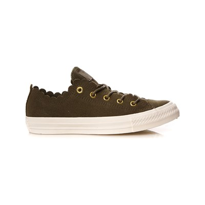 Converse CHUCK TAYLOR FRILLY THRILLS BASKETS BASSES KAKI Chaussure France_v6173