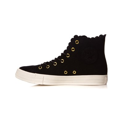 Converse Basses Noir Chuck Thrills Taylor 3061137 Frilly Baskets Caoutchouc r6wr4FnqxX