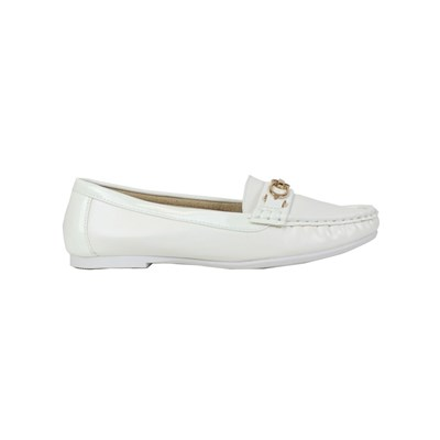 Kebello MOCASSINS BLANC Chaussure France_v761