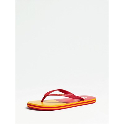 Guess FLIP FLOP TONGS ROUGE Chaussure France_v401