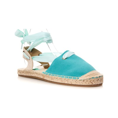 Benetton SANDALES EN CUIR TURQUOISE Chaussure France_v481
