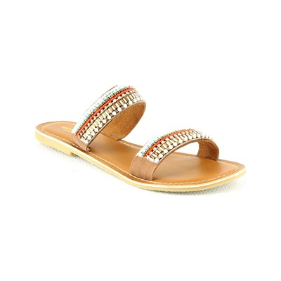 Manoukian MULES CAMEL Chaussure France_v2645