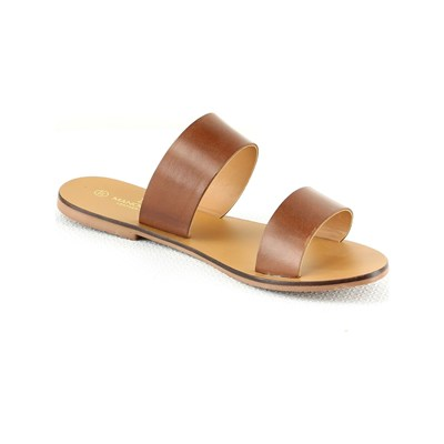 Manoukian MULES EN CUIR CAMEL Chaussure France_v2649