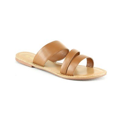 Manoukian NU-PIEDSEN CUIR CAMEL Chaussure France_v2673