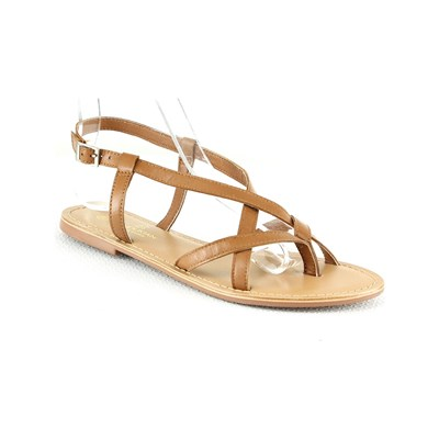 Manoukian NU-PIEDSEN CUIR CAMEL Chaussure France_v2672