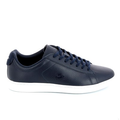 Lacoste CARNABY EVO BASKETS BASSES BLEU MARINE Chaussure France_v10719