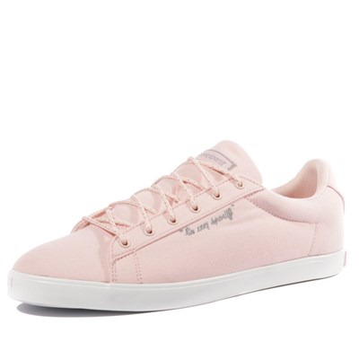 Le Coq Sportif AGATE LOW METALLIC TENNIS ROSE Chaussure France_v4781