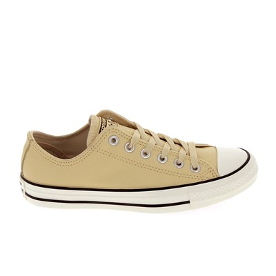 Converse ALL STAR CUIR BASKETS BASSES BEIGE Chaussure France_v9858