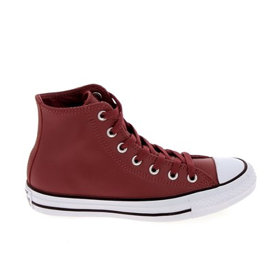 Converse ALL STAR HI CUIR BASKETS MONTANTES ROUGE