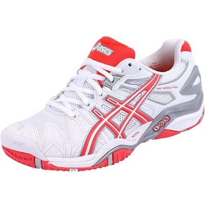 Asics GEL RESOLUTION 5 CHAUSSURES TENNIS BLANC Chaussure France_v7195
