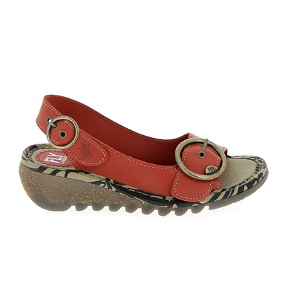 Chaussures Femme | Fly London NU-PIEDS ROUGE