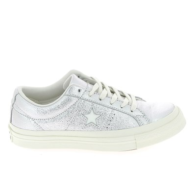 Converse ONE STAR BASKETS BASSES ARGENT