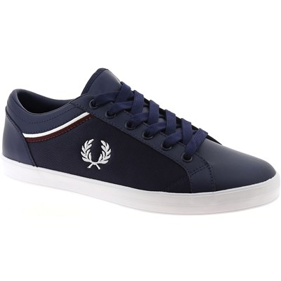 Fred Perry BASKETS BASSES BLEU MARINE Chaussure France_v10310