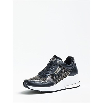 Guess JANEET SNEAKERS APPLICATION CLOUS NOIR Chaussure France_v9722