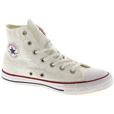 Converse CHUCK TAYLOR ALL STAR BASKETS MONTANTES BLANC Chaussure France_v10323