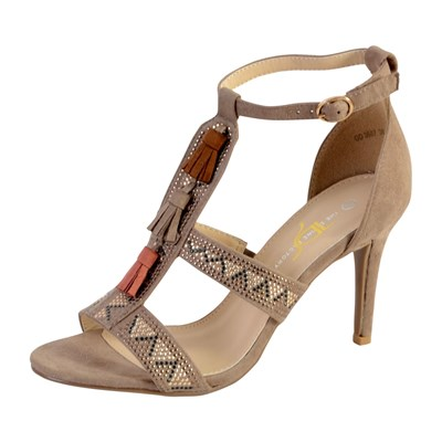 The Divine Factory GD3687 SANDALES BEIGE Chaussure France_v5241