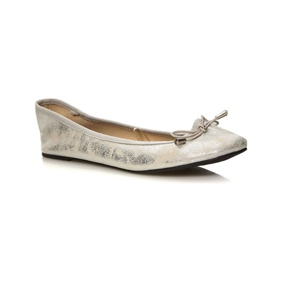 Moa ESSENTIELS BALLERINES ARGENT Chaussure France_v080