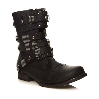 Moa GRAPHIC ROCK BOOTS SCHWARZ
