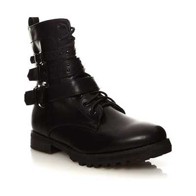 Moa ARISTO GRUNGE BOOTS NOIR Chaussure France_v301
