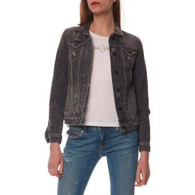 Pepe Jeans London THRIFT GIACCA IN JEANS NERO