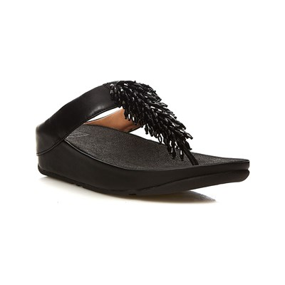 FitFlop RUMBA TOE THONG TONGS NOIR