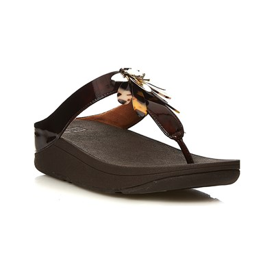 FitFlop CONGA DRAGONFLY TONGS CHOCOLAT Chaussure France_v14480