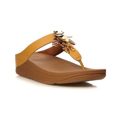 FitFlop CONGA DRAGONFLY TONGS JAUNE Chaussure France_v14481