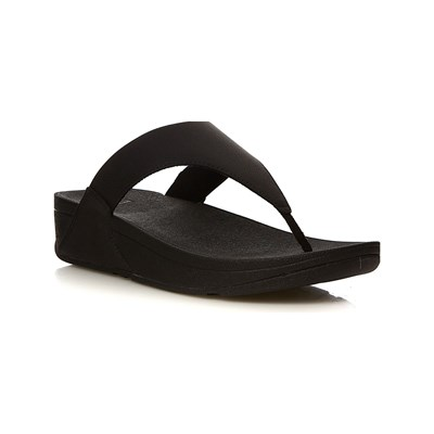 FitFlop LULU SHIMMERLUX TONGS NOIR Chaussure France_v11350