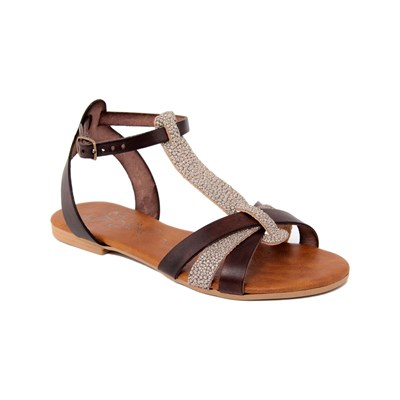 Miss Butterfly SANDALES EN CUIR MARRON Chaussure France_v2687
