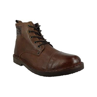 Levi's TRACK BOOTS EN CUIR MARRON Chaussure France_v6598